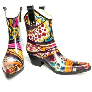 Nomad Rainboots Yippy Multicolor Size 6